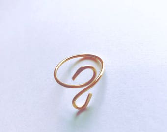Egyptian scroll Gold fill Ring Size 8, Lilyb444, Gifts for her, Jewelry,