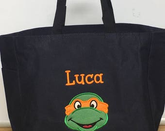 Personalized Ninja Turtles Tote Bag Baby Diaper Bag