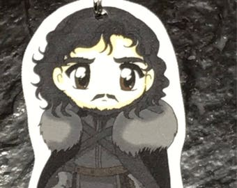 Jon Snow - Game of Thrones Keychain, Necklace, Earrings, Charm