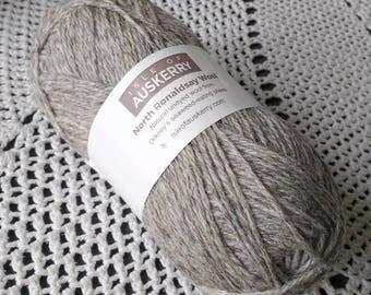 North Ronaldsay Aran Wool Seal Pale Grey Aran Weight Pure Knitting Wool Isle of Auskerry Crochet Yarn