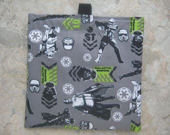 Star Wars Galactic Empire Reusable Sandwich Bag, Reusable Snack Bag, Washable Treat Bag with easy open tabs