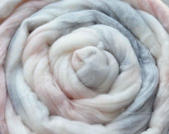 Merino Wool Top for Spinning or Felting - Blush Bloom
