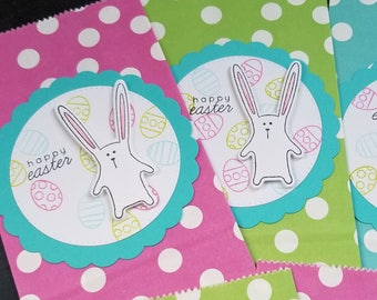 Easter gift etsy easter treat bags set of 5 easter party favor bags easter basket treats negle Image collections