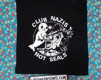 CLUB NAZIS not seals PATCH I know I have one just like this but this is better because everyone hates nazis