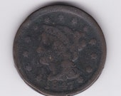 1847 Braided Hair Large US One Cent
