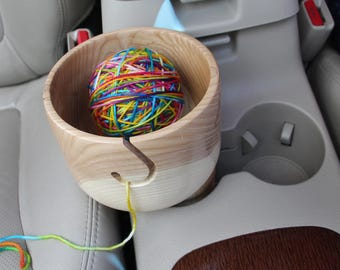 Yarn Bowl w/Traveller - Green Ash (Stock No. 293)
