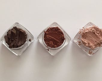 FIRE STARTER set 3 Pc Organic Mineral Eye SHADOW All Natural Pure
