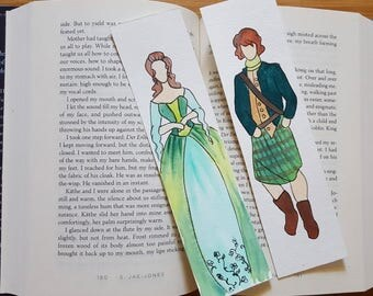 Outlander Minimalist Watercolor Bookmark