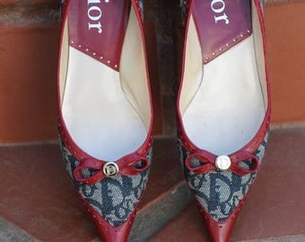 Vintage Shoes, Authentic Christian Dior Flat Shoes, Diorissimo Shoes, Gift for her, Holiday Gift,