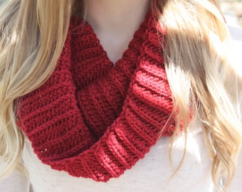 READY TO SHIP - Crochet Women's Scarf, Crochet Cowl, Crochet Infinity Scarf, Women's Cowl, Women's Infinity Scarf, Winter Scarf, Gold Scarf