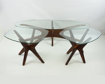 Stunning Adrian Pearsall coffee table end table / Mid Century modern table / Mid Century Jack table / Eames era 60s / Jacks coffee table set
