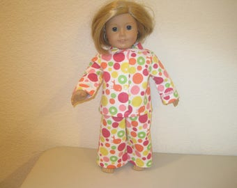 "18"" doll clothes pajamas to fit American Girl Dolls"