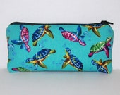 """Pipe Pouch, Sea Turtles, Pipe Case, Glass Pipes, Pipe Bag, Padded Pipe Pouch, Pipe Cozy, Smoke Accessory, Ocean, Stoner Gifts - 5.5"""" SMALL"""