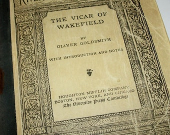 The Vicar of Wakefield, Oliver Goldsmith, Riverside Literature Series, 1901, Houghton Mifflin Company