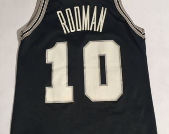Vintage San Antonio Spurs Denis Rodman Champion Jersey