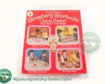 Strawberry Shortcake Game Basket Vintage 1980s