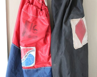 Vintage Sail Bag - Nautical Bag - Sobstad Sailmakers