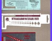 ON SALE Knitting Needle Crochet Hook Stitch Gauges CHOICE Vintage
