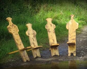 Handmade Viking Chair, Bog Chair, Camping Chair, Stargazer