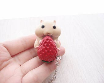 cute hamster 5 necklace