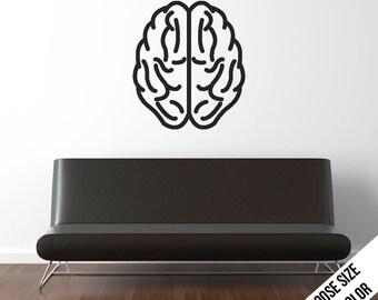 Brain Wall Decal  -Anatomy, Medical, Doctor, Horror - Vinyl Sticker