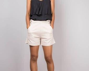 Beige shorts, women's shorts, high waist shorts, short pants, summer pants, short beige pants, fashion shorts