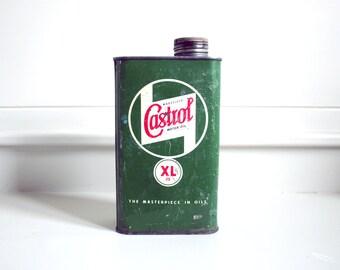 vintage castrol oil can