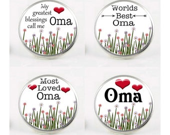 Snap Charms, Oma, Grandma, Grandmother,  Interchangeable Jewelry, 18mm Charm, Snaps, Snap Button Charm, Sayings, Quotes, Snap In Charm #3