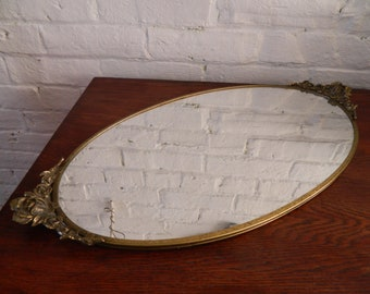 Vintage Gold Mirrored Vanity Tray