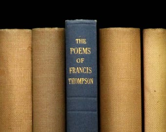 Vintage poetry book The Poems of Francis Thompson 1940s book