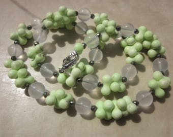 Lemon Chrysoprase Girasol / Moon / Goddess Quartz Necklace