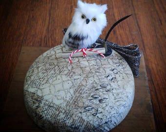 Owl Post Pillbox Hat