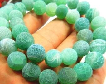 64 AGATE Gemstone Beads - 6mm - COD5035