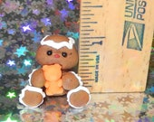 Tiny Gingerbread with faux candy bear Choose color