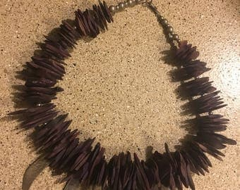 Purple wooden cosplay necklace