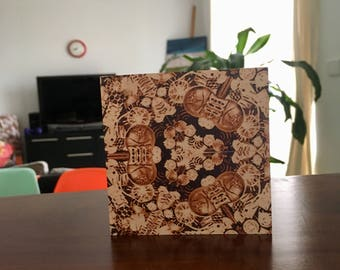Mono-kaleidescope - wood block wall art