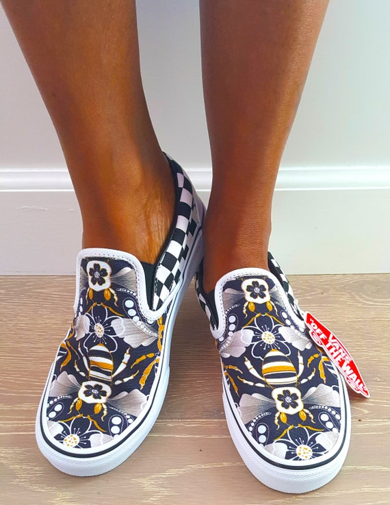 Limited Edition Deco Bee Custom Vans (Women's)