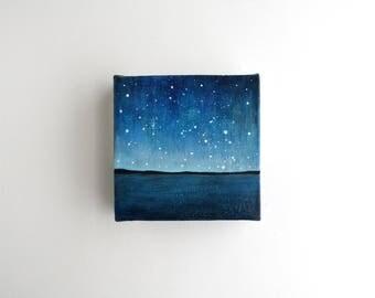 Night Sky Painting - 4 x 4