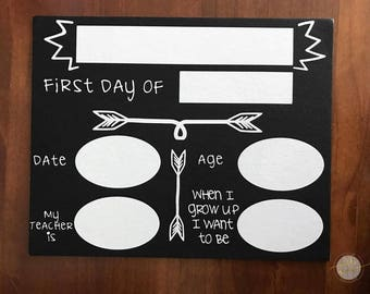 Back to school photo prop board