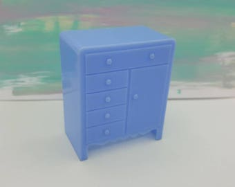 Marx  Marxie Mansion baby room Blue  and Nursery  Fits 3/4 Renwal Hard Plastic Chiffarobe
