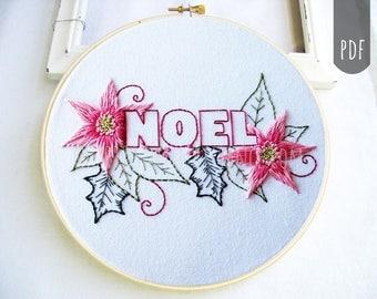 PDF Stitching Embroidery Pattern Holiday Christmas Season Noel