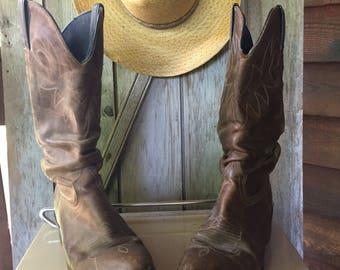 Vintage Durango Ladies Cowboy Boots Size 8.5