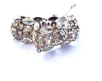 Art Deco Rhinestone Bracelet Extraordinary Vintage Bridal Fashion Jewelry