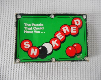 Snookered Snooker Ball Block Game Boxed Game Set 1980s