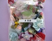 GRAB BAG, Assorted Appliques, Multi Combo for Sewing, Crafting, Scrapbooking Embellishment, Hair Accessories, Doll Clothes, 2 oz, A 018