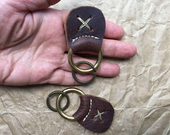 Handmade Keychain / Custom Keychain / Leather Key Fob / Handmade Key Fob