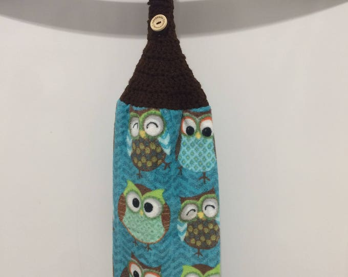Owl Hanging Kitchen Towel, Kitchen Towel, Hanging Towel