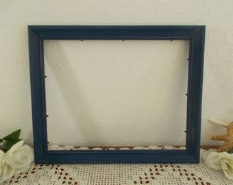 Navy Blue Picture Frame Rustic Shabby Chic Distressed 11 x 14 Photo Decoration Beach Cottage Coastal Seaside Nautical Home Decor Wedding