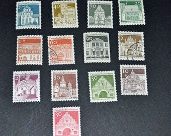 German 13 stamps some mint