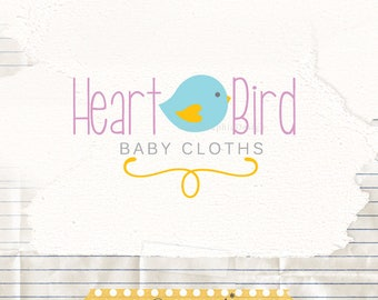 Cute logo design - Logo for a kids shop - Baby boutique logo - Business Logo - Cute bird logo